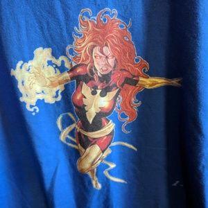 X Men Jean Grey/ Phoenix blue t shirt! Size XL!